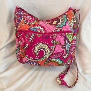 Vera Bradley Pink Swirls On The Go Bag